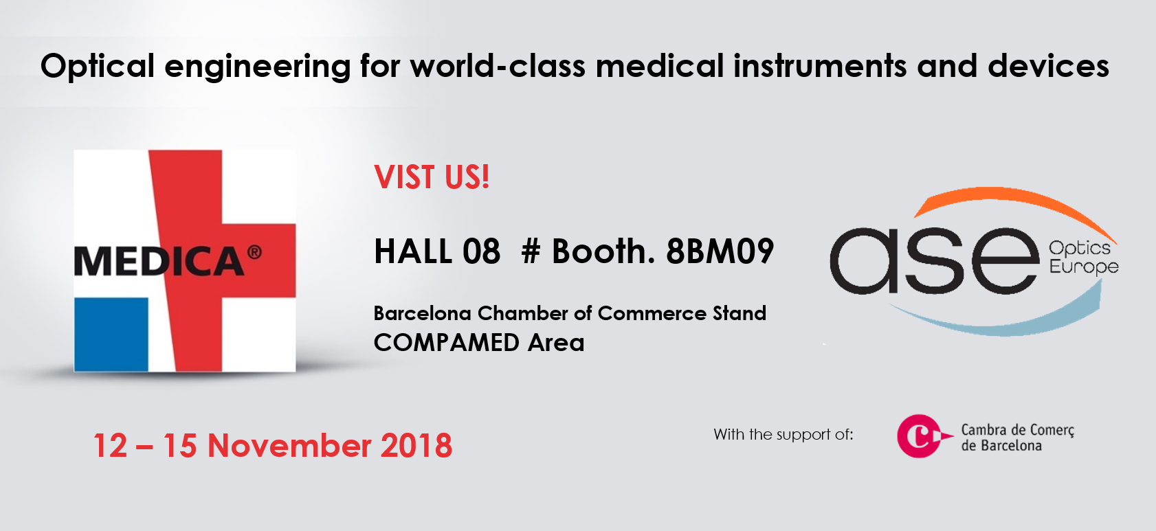 ASE Optics exhibits at MEDICA COMPAMED