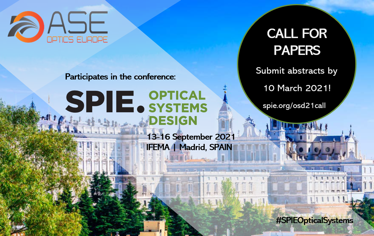 ASE at SPIE Optical Systems Design